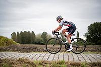 Lieke Nooijen (NED/Parkhotel Valkenburg)<br /> <br /> Inaugural Paris-Roubaix Femmes 2021 (1.WWT)<br /> One day race from Denain to Roubaix (FRA)(116.4km)<br /> <br /> ©kramon