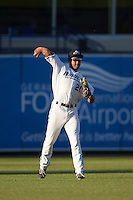 West Michigan Whitecaps center fielder Derek Hill (21) during a game against the Burlington Bees on July 25, 2016 at Fifth Third Ballpark in Grand Rapids, Michigan.  West Michigan defeated Burlington 4-3.  (Mike Janes/Four Seam Images)