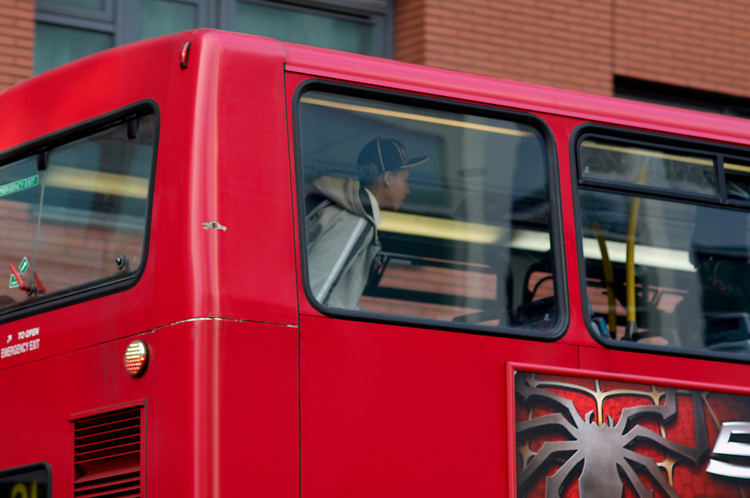 © John Angerson <br /> Passengers on London Bus route near Old Street.<br /> <br /> +44 (0) 7767 822828