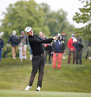 3rd July 2021; Mount Juliet Golf Club, Kilkenny, Ireland; Dubai Duty Free Irish Open Golf, Day Three; Justin Harding of South Africa takes his second shot on the 1st hole