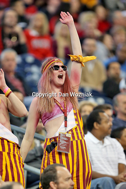 Minnesota Golden Gophers fans watch the action during the Meineke Car Care Bowl game of Texas between the Texas Tech Red Raiders and the Minnesota Golden Gophers at the Reliant Stadium in Houston, Texas. Texas leads Minnesota 24 to 17 at halftime.