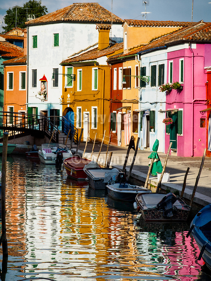 The colorful village of Burano, Italy.