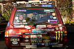 SUV Covered in Bumper Stickers, Washington