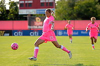 Laura Kalmari (21) of Sky Blue FC. The Western New York Flash defeated Sky Blue FC 2-0 during a Women's Professional Soccer (WPS) match at Yurcak Field in Piscataway, NJ, on July 17, 2011.