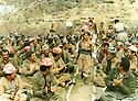 Iraq 1986.Meeting of peshmergas in Badinan, near Amadia   Irak 1986.Reunion de peshmergas pres de Amadia dans le Badinan