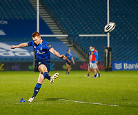 19th March 2021; RDS Arena, Dublin, Leinster, Ireland; Guinness Pro 14 Rugby, Leinster versus Ospreys; Dave Kearney of Leinster kicking the try conversion ay 5 - 0