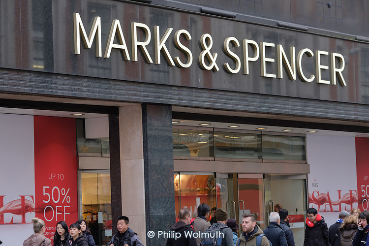 Marks & Spencer end of year sales, Oxford Street, London.