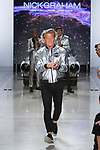 """Fashion designer Nick Graham walks runway at the close of his Nick Graham Spring Summer 2019 """"1969"""" collection in at Cadillac House in New York City on July 10, 2018; during New York Fashion Week: Men's Spring Summer 2019."""