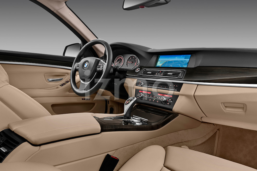 Passenger side dashboard view of a 2013 BMW 5 Series 530d Wagon