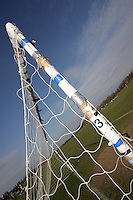 Sunday football goal posts at pitch number 3 are seen at Hackney Marshes - 24/02/08 - MANDATORY CREDIT: Gavin Ellis/TGSPHOTO - Self billing applies where appropriate - Tel: 0845 094 6026