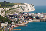 Dover. The port of Dover showing the harbour harbor Kent UK