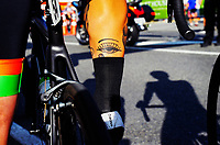 Jack Sutton prepares to ride. The 2018 NZ Cycle Classic UCI Oceania Tour pre-tour criterium at Mitre 10 Mega in Masterton, New Zealand on Tuesday, 16 January 2018. Photo: Dave Lintott / lintottphoto.co.nz