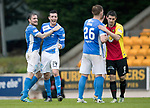 St Johnstone v Partick Thistle…13.05.17     SPFL    McDiarmid Park<br />Paul Paton and Joe Shaughnessy celebrate at full time as they qualify for Europe<br />Picture by Graeme Hart.<br />Copyright Perthshire Picture Agency<br />Tel: 01738 623350  Mobile: 07990 594431