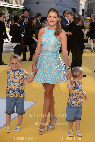 """Danielle Lloyd at the world premiere of """"Minions"""" at the Odeon, Leicester Square, London.<br /> June 11, 2015  London, UK<br /> Picture: Dave Norton / Featureflash"""