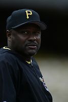Pittsburgh Pirates Manager Lloyd McClendon during a 2003 season MLB game at Dodger Stadium in Los Angeles, California. (Larry Goren/Four Seam Images)