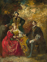 Full title: Conversation Piece<br /> Artist: Adolphe Monticelli<br /> Date made: probably 1870-90<br /> The National Gallery, London