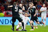 Spain's Thiago Alcantara (c) and Argentina's Gonzalo Pipita Higuain (l) and Lucas Biglia during international friendly match. March 27,2018.(ALTERPHOTOS/Acero) /NortePhoto.com NORTEPHOTOMEXICO