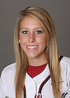 STANFORD, CA - OCTOBER 29:  Kelsey Gerhart of the Stanford Cardinal softball team poses for a headshot on October 29, 2009 in Stanford, California.