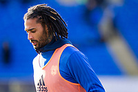 Armand Traore of Cardiff City warms up ahead of the Sky Bet Championship match between Cardiff City and Middlesbrough at the Cardiff City Stadium, Cardiff, Wales on 17 February 2018. Photo by Mark Hawkins / PRiME Media Images.