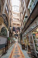 Spain, Valencia, Pasage de Ripalda. Shopping passage.