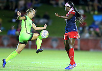 Boyds, MD - Wednesday Sept. 07, 2016: Merritt Mathias, Cheyna Williams during a regular season National Women's Soccer League (NWSL) match between the Washington Spirit and the Seattle Reign FC at Maureen Hendricks Field, Maryland SoccerPlex.