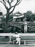 Besucher vor dem Kaiserpalast, Tokyo, Japan