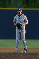 Trevor Megill (21) of the Tri-City Dust Devils pitches during a game against the Vancouver Canadians at Nat Bailey Stadium on July 23, 2015 in Vancouver, British Columbia, Canada. Tri-City defeated Vancouver, 6-4. (Larry Goren/Four Seam Images)