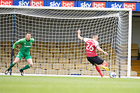 Liam Sercombe, Cheltenham Town scores the <br /> Opening goal from the penalty spot during Southend United vs Cheltenham Town, Sky Bet EFL League 2 Football at Roots Hall on 17th October 2020