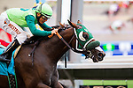 AUG 3,2014:Inexcess Time,ridden by Elvis Trujillo,wins the maiden race,6R at Del Mar in Del Mar,CA. Kazushi Ishida/ESW/CSM