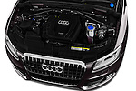 Car Stock 2016 Audi Q5 5 Door Suv Engine  high angle detail view