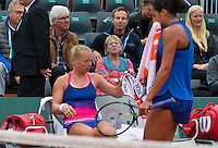 Paris, France, 01 June, 2016, Tennis, Roland Garros, Kiki Bertens (NED)  during changeover in her  match against Madison Keys (USA)<br /> Photo: Henk Koster/tennisimages.com