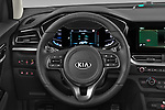Car pictures of steering wheel view of a 2020 KIA Niro-phev Sense 5 Door SUV Steering Wheel