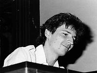 Montreal (Qc) Canada  file Photo - 1985, Francois Bourassa, Jazz Pianist andson of Robert Bourassa