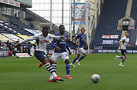 Preston North End's Darnell Fisher  gets a shot on goal<br /> <br /> Photographer Mick Walker/CameraSport<br /> <br /> The EFL Sky Bet Championship - Preston North End v Cardiff  City - Saturday 27th June 2020 - Deepdale Stadium - Preston<br /> <br /> World Copyright © 2020 CameraSport. All rights reserved. 43 Linden Ave. Countesthorpe. Leicester. England. LE8 5PG - Tel: +44 (0) 116 277 4147 - admin@camerasport.com - www.camerasport.com