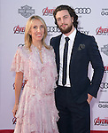 "Sam Taylor-Johnson, Aaron Taylor-Johnson attends The World Premiere of Marvel's ""Avengers"" Age of Ultron,"" held at The Dolby Theatre in Hollywood, California on April 13,2015                                                                               © 2014 Hollywood Press Agency"