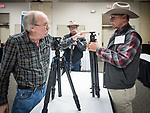 Dave Ericsson shows his line of Sirui tripod to photographers at #ShootingTheWest XXX, #WinnemuccaNevada, #SiruiUSA
