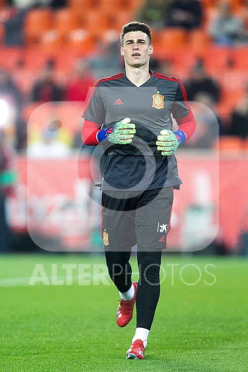 Spain's Kepa Arrizabalaga  during the qualifying match for Euro 2020 on 23th March, 2019 in Valencia, Spain. (ALTERPHOTOS/Alconada)