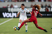 Carson, CA - Thursday August 03, 2017: Aya Sameshima, Casey Short during a 2017 Tournament of Nations match between the women's national teams of the United States (USA) and Japan (JPN) at the StubHub Center.