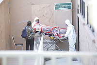 The body of a   Covid 19 pandemic victim is taken to the morgue  of  Ciudad Juarez, on the Mexican border with the USA. Amidst the never ending violence of this city, corona virus is taking a high death toll.