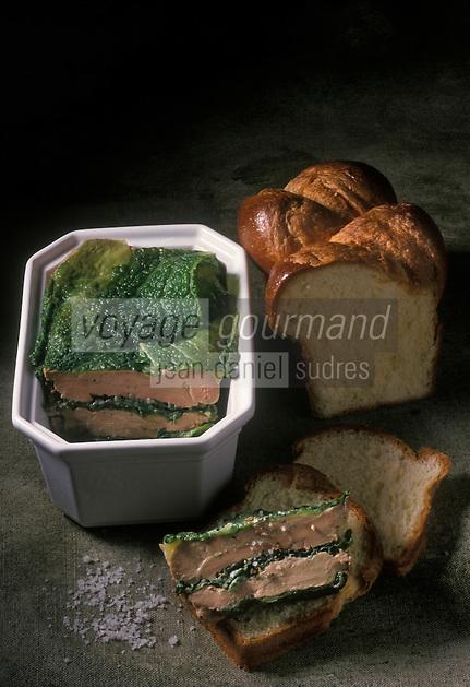 Cuisine/Gastronomie Generale: Terrine de Foie gras au chou vert