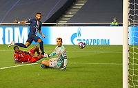 23rd August 2020, Estádio da Luz, Lison, Portugal; UEFA Champions League final, Paris St Germain versus Bayern Munich; Neymar of Paris Saint-Germain shoots past Manuel Neuer of FC Bayern Munich