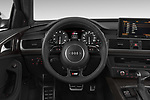 Car pictures of steering wheel view of a 2015 Audi S6 Base 4 Door Sedan