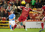 Aberdeen v St Johnstone…22.09.16.. Pittodrie..  Betfred Cup<br />Danny Swanson's shot goes just over the bar<br />Picture by Graeme Hart.<br />Copyright Perthshire Picture Agency<br />Tel: 01738 623350  Mobile: 07990 594431