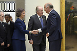 King Juan Carlos I of Spain and Queen Sofia of Spain deliver the Medal of Honor to the Royal Theater at the San Fernando Museum. Neverber 13 ,2017. (ALTERPHOTOS/Pool)