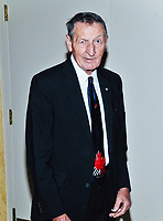 16 December 2020 - Police make arrests after theft of memorabilia from Walter Gretzky's home. The estimated value of the recovered stolen property is believed to be worth more than US $500,000. File Photo: 2015 Let's Shake charity event for Parkinson's research, Michelangelo Banquet Centre, Hamilton, Ontario, Canada. Photo Credit: Brent Perniac/AdMedia