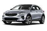 Stock pictures of low aggressive front three quarter view of 2020 KIA XCeed Sense 5 Door SUV Low Aggressive