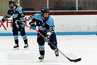 BOSTON, MA - JANUARY 04: Ida Kuoppala #26 of University of Maine brings the puck forward during a game between University of Maine and Boston University at Walter Brown Arena on January 04, 2020 in Boston, Massachusetts.