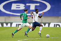 BELFAST, NORTHERN IRELAND - MARCH 28: Daryl Dike #21 of the United States during a game between Northern Ireland and USMNT at Windsor Park on March 28, 2021 in Belfast, Northern Ireland.