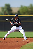 Seattle Mariners Erick Mejia (3) during an instructional league intrasquad game on October 6, 2015 at the Peoria Sports Complex in Peoria, Arizona.  (Mike Janes/Four Seam Images)