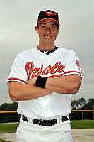 Feb 27, 2010; Tampa, FL, USA; Baltimore Orioles  catcher Chad Moeller (16) during  photoday at Ed Smith Stadium. Mandatory Credit: Tomasso De Rosa/ Four Seam Images